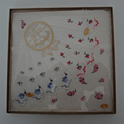 SOLD Boxed 3 Swiss Embroidered Floral Hankies