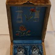 Henry Tetlow Glass Traveling Perfume Set With Original Case