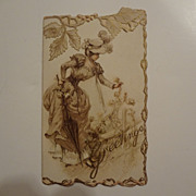 Victorian Christmas Raphael Tuck Card Ex. Cond