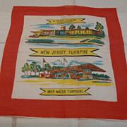 Vintage New Jersey Turnpike Silk Hankie