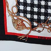 Scarf Silk David Hayes ~ Nan Duskin Store ~ Checkerboard