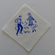 """Hankie Handkerchief~ """"Let's Twist"""" Dancing 1960's Never Used"""