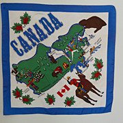 Vintage Scarf of Canada Great Graphics