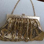Whiting & Davis Gold Mesh Handbag 1940-50's Ex. Cond