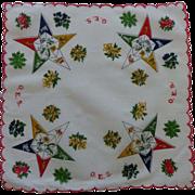 Vintage Order of Eastern Star Hankie