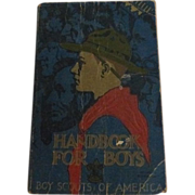 SOLD Boy Scouts 1933 Handbook for Boys