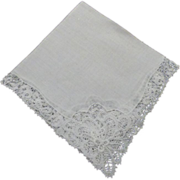 Hankie Handkerchief Bridal  Floral Openwork All Corners