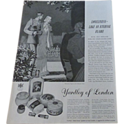1938 Advertisement Yardley of London Cosmetics~English Lavender