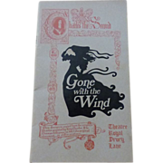 Gone With The Wind Playbill~London May, 1972
