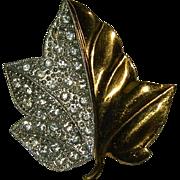 SALE Beautiful Alfred Philippe for Trifari Maple Leaf Brooch ~ 1938