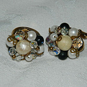 SALE Super Pretty One of a Kind Cluster Cuff Links
