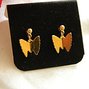 SALE 1979 Butterfly Duo Earrings by Sarah Coventry