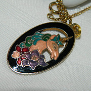 SALE Lovely Unusual Cloisonne Unicorn Pendant