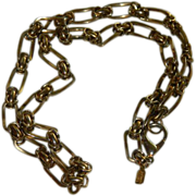 SALE Bold Gold Plated Kenneth J Lane Heavy Chain Neckalce