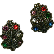 SALE Victorian Paste Omega Back Earrings