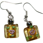 SOLD Vintage Italian Wedding Cake Beads Earrings