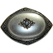 SALE Avon Victorian Revival Marcasite Faux Pearl Brooch ~ Pendant