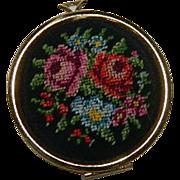 SALE Rare Hand Embroidered Avon Oversized Locket