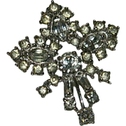SALE Stunning Art Deco Paste Stone Diamante Pendant