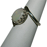 SOLD Delicious Natural Color Play 3.72 ct Opal Sterling Silver Ring sz 7.5