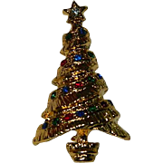 SALE Collectable Vintage Christmas Tree Brooch