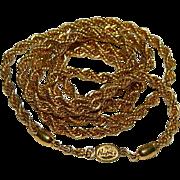 "SALE Designer Napier Luscious Gold Tone Twist Braid Thick Rope Chain Necklace ~ 30"""