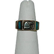 SALE Native Eagle's Head Fetish Ring sz 6.5