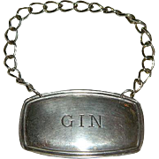 SALE English Silver Gin Bottle Label