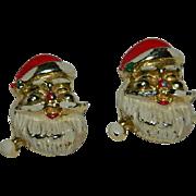 SALE 1950's Enamel Santa Claus Scatter Pins Set