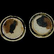 SALE Hot Vintage Animal Print Fur Clip Earrings!!