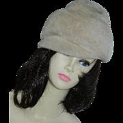 SALE Chic Faux Fur Winter Hat Ca 1960's