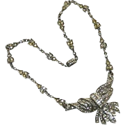 SALE Exquisite Art Deco Costume Necklace ~ Masterpiece!!