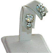 SALE Old Hollywood Faux Diamonds Sparkling Rhinestones Earrings