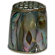 SALE Sterling Silver Mother of Pearl Thimble