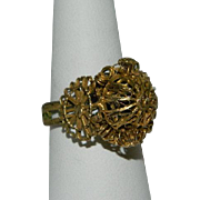 SALE Antique Gilt Cannetille Ring ~ Needs TLC
