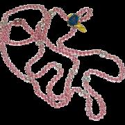 SALE Very Rare! Paul Morris Rainbow Ropes Opera Length Glass Beaded Necklace