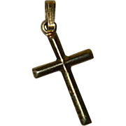 SALE Tiny 14k Gold Filled Cross Charm Pendant