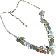SALE Sarah Coventry Silver Tone Charm Dangler Short Bib Necklace