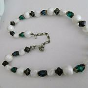 SALE Super Pretty Trifari Beaded Crystal Necklace