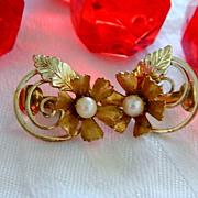 SALE Pretty Coro Faux Pearl Earrings