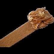 SALE Vintage SIGNED Napier Mesh Bracelet Fancy Clasp