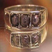 TANZANITE  Handmade Band Ring.. 3 Carats wide Band Sterling