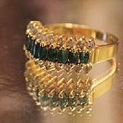 Columbian Emerald 2 Crt & Diamond 1.25 Crt. RING 14 kt
