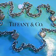 """TIFFANY & CO.  Vntg Huge Sterling 35""""  Necklace"""