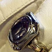 SALE Huge Tanzanite DECO Ring 14k  Circa 1940