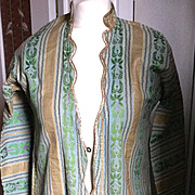 19 th century Ottoman robe. Silk woven.