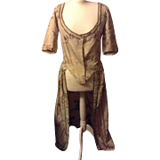 SOLD Circa 1720 .Spitalfields silk robe , altered in the 19 th century.for document and study,