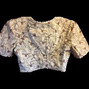 SOLD Circa 1820 cotton block printed bodice. English . Handmade.