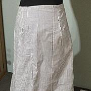 SOLD Circa 1900 cotton drill underskirt. In super condition.