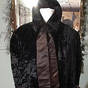 SOLD 1880,s Victorian black silk velvet dolman with wonderful velvet tassels.